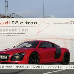 Récord para el Audi R8 e-tron en Nurburgring