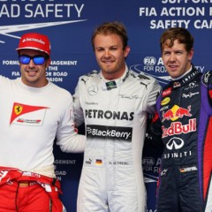 Rosberg hace la pole en Bahréin seguido por Vettel y Alonso