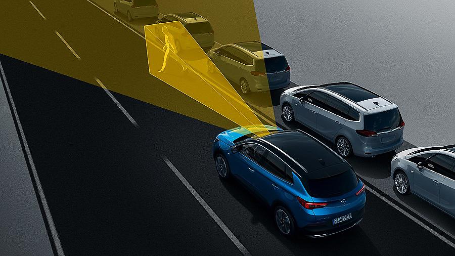 Opel Grandland X con el asistente de aviso de fatiga al conductor
