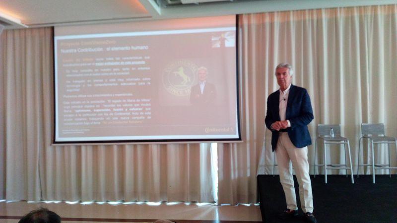 Emilio de Villota es embajador de Continental para su proyecto de cero accidentes