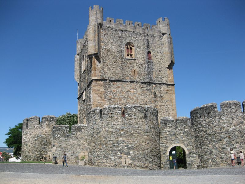 Castillo de Braganza con su impresionante Torre del Homenaje