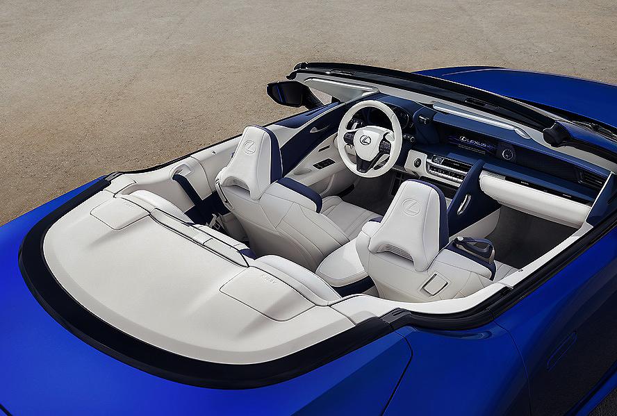 El Lexus LC Cabrio presenta su nueva y sofisticada capota