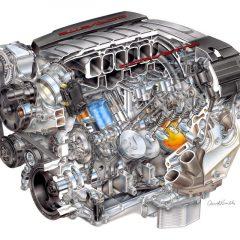 Nuevo motor LT1 V8 para el Chevrolet Corvette C7