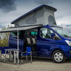 Ford Ranger y Tourneo Custom Camperizada para la Imperial Bike Tour By Ford