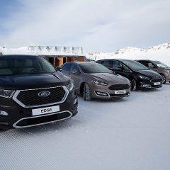 Los modelos Ford 4×4 en la estación invernal de Astún
